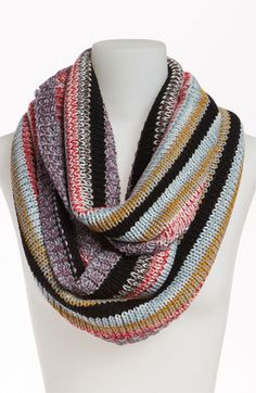 I would like this with different stripes.  BP. Stripe Knit Infinity Scarf available at #Nordstrom
