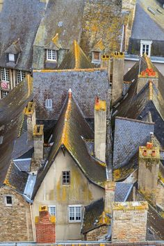 Town Roof Tops, Brittany, France