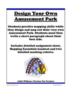 Amusement Park Activity to Review Mapping Skills  ($2.25)