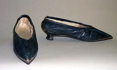 Slippers  From The MEt  Date:      1790s  Culture:      British  Medium:      leather