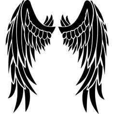 Angel wings ❤ liked on Polyvore featuring backgrounds, extra, pictures, tattoo's and wings