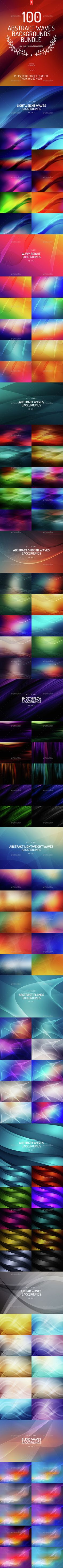 100 Abstract Waves Backgrounds Bundle. Download here: http://graphicriver.net/item/100-abstract-waves-backgrounds-bundle/15314659?ref=ksioks