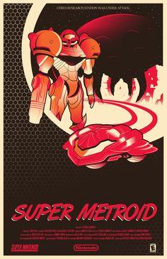 Super Metroid - Marinko Milosevski Illustration and Design