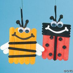 [caption align=alignnone bee and ladybug popsicle stick kids crafts[/caption] Popsicle Stick Craft Ideas for Preschoolers This page has a lot of popsicle stick craft ideas for kids, preschool, homeschool and kindergarten. Popsicle Stick Christmas Crafts, Popsicle Crafts, Popsicle Sticks, Kids Crafts, Toddler Crafts, Insect Crafts, Bug Crafts, Craft Stick Projects, Craft Stick Crafts