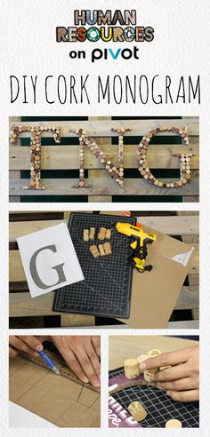Create an eco-friendly, personalized monogram from of wine corks and wine boxes! Click through for this and more waste-free DIY projects. You'll be amazed at the treasures you can make with what you were about to throw away