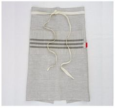 LINEN  APRON  hand screen printed linen  by CelinaMancurti on Etsy, $52.00