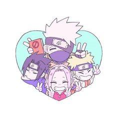 Naruto Team 7, Naruto Kakashi, Anime Naruto, Naruto Chibi, Naruto Cute, Naruto Shippuden Anime, Boruto, Chibi Naruto Characters, Anime Chibi