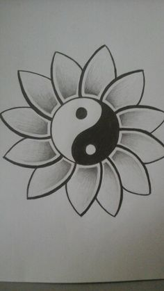 easy drawings pencil creative drawing designs simple beginners yang ying flower tattoo friend doodle wanted casual