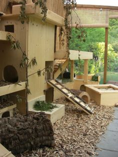 Beautiful outdoor enclosure for rabbits. Riesi … – Beautiful outdoor enclosure for rabbits.