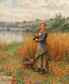 Madeleine+in+An+Wheat+Field,+1907+-+Daniel+Ridgway+Knight