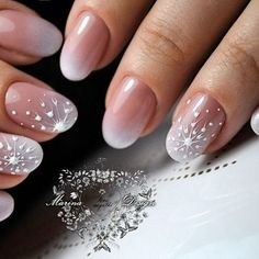 Great gallery of unique nail art designs of for any season and reason. The best images and creative ideas for your nails. Any color gamma. Snow Nails, Xmas Nails, Winter Nails, Christmas Nails, Nail Manicure, Gel Nails, Acrylic Nails, Nail Polish, Cute Nails