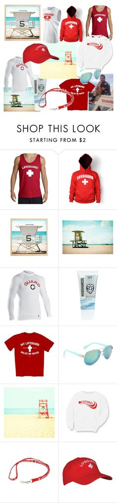 """Lifeguard"" by xcdistancerunner18 ❤ liked on Polyvore featuring J.Crew, Aéropostale, Flexfit, women's clothing, women, female, woman, misses and juniors"