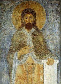 Иоанн Креститель / Илия Пророк(?) Деталь фрески придела апостолов Петра и Павла.