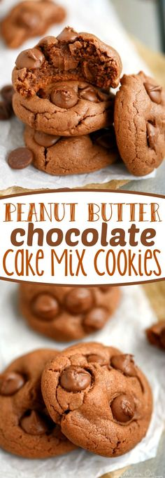 Peanut Butter Milk Chocolate Cake Mix Cookies - if you're a peanut butter and chocolate lover - you might as well put these on your to-do list right now. Only 6 ingredients! | eBay