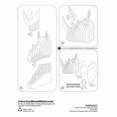 Dxf plans downloads alossauro dinos pinterest for Free cardboard taxidermy templates