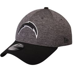 more photos 0588e a575e Los Angeles Chargers New Era Black Logo Shadow Tech Flex Hat - Heathered  Gray Black
