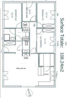 Plan de maison plain pied 4 600 435 for Plan maison 6 chambres