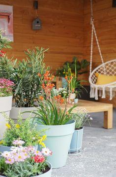 urban jungle loungehoek tuin plantenbakken Ibiza, Garden Styles, Go Outside, Garden Inspiration, Container Gardening, Flower Power, Garden Design, Outdoor Living, Sweet Home