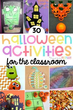 Check out the BEST Halloween activities for the classroom and teachers. Celebrate Halloween week and a classroom party with these spooky arts & crafts, science and STEM activities, literacy and math ideas kids will enjoy! #halloween #halloweenactivities #halloweenstem #halloweencrafts #halloweenmath