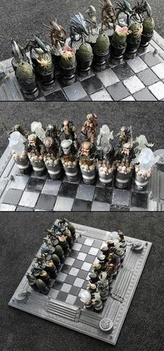 Alien Vs Predator Movie Poster Chess Playing Un Official A1 A2 Wall Art Gi 451 View More On The LINK Zeppyio Product Gb 2 171022