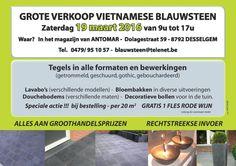 Grote verkoop V�etnamese blauwsteen � groothandelsprijzen - enkel op zaterdag 19/3 van 9u tot 17u!! -- Oostrozebeke -- 19/03