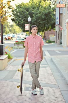 High School Senior Boy Portraits Seniors Portrait Skateboard Urban Casual Posing