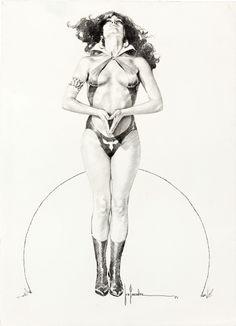 Jose Gonzalez - Vampirella #108 Frontispiece (1981), in Gene Park's Gonzalez, Jose (Vampirella) Comic Art Gallery Room - 985205