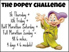 The Dopey Challenge - running, runDisney, Dopey Training, marathon