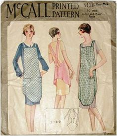 McCall 5126, 1920s apron sewing pattern. Very rare.