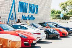 Luxury cars at Nikki Beach Marbella