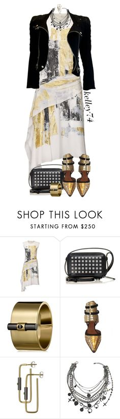 """Reed Krakoff ~ Silver & Gold"" by kelley74 ❤ liked on Polyvore featuring Reed Krakoff, Jean-Paul Gaultier and Balmain"