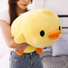 Big Soft Duck Stuffed Animal Plush - Yellow / 16in