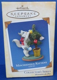 2004 Mischievous Kittens Hallmark Retired Series Ornament