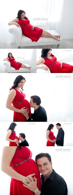 Maternity session valentines red beautiful