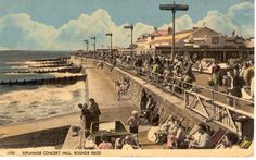 An old postcard of Bognor Regis as featured on the new Bognor Local History website.
