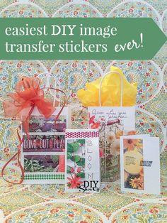Easy DIY Image Transfer Stickers