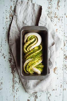 Braided Pesto Bread is a savory and fluffy recipe and can be used for many creative ideas.