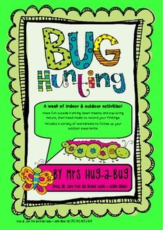 TEACHERS— ARE YOU FANS OF CREEPY CRAWLIES? For activities that will engage even the most reluctant learner, you can't look any further than BUGS!    This Bug Hunting pack contains more than 20 pages of indoor and outdoor bug activities. Create and assemble your own Bug Hunting field Kit, then have fun outside on a Bug Hunt. Design and build a Bug Hotel and when you've finished observing the bugs and exploring nature, head inside to record your findings.