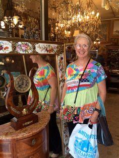 TUTU TULLE TUNIC Tie Dye  Wearable Collage Folk Art  Vintage Fabric Linens MyBonny