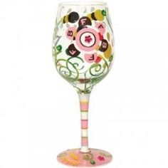 Why not have decorative wine glasses to serve wine when you celebrate a special occasion or when your friends come over? So much more interesting...