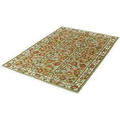 "Vintage Sarreid LTD Floral Rug - 4' x 5'9"" ($792) ❤ liked on Polyvore featuring home, rugs, traditional handmade rugs, vintage rugs, vintage floral rug, floral area rugs, floral rug and vintage area rugs"