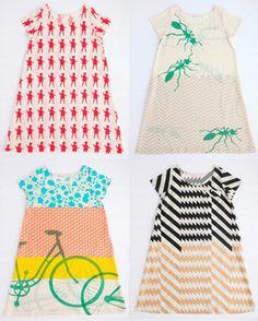 baby. dresses. clothes. designer. artist. fun. interesting. patterns. make. inspire. girl. toddler. cute.