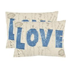 I pinned this Love Pillow (Set of 2) from the Guest Room Refresh event at Joss and Main!