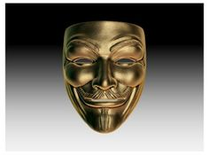 Guy Fawkes Anonymous Pendant (Small) by Joshua Harker on Shapeways Chocolate Shapes, 3d Printed Jewelry, 3d Printing Service, Guy Fawkes, Three Dimensional, 3 D, Anonymous, Print Design, Skull