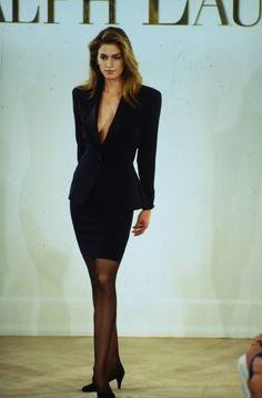 Cindy walked for Ralph Lauren 1992 80s Fashion, Timeless Fashion, Runway Fashion, High Fashion, Vintage Fashion, Fashion Outfits, Estilo Gigi Hadid, Original Supermodels, Ralph Lauren