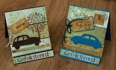 Marjoleine's blog: Mannen-kaart met auto's maken tijdens de aanschuifworkshop van 3 en 4 oktober 2014, bij Marjolein Zweed Creatief - Kaarten voor mannen met een eend en kever (auto's).