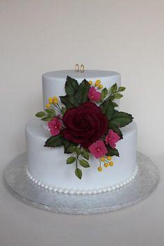 svadobná gratulačná - Autorka: Annka Let Them Eat Cake, Wedding Planning, Cake Photos, Desserts, Food, Ideas, Parties, Pastries, Flowers