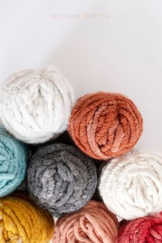 """Called """"Rug Yarn"""" for it's grand size, this yarn is spun from supersoft . Weaving Yarn, Rug Yarn, Wool Rug, Tapestry Weaving, Wool Yarn, Basket Weaving, Weaving Projects, Knitting Projects, Crochet Yarn"""