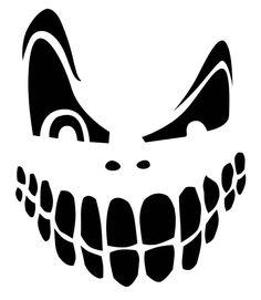Faces Templates jack o lantern faces patterns stencils ideas halloween inspiring pumpkin carving printable for your inspiring Scary Pumpkin Faces Templates. Scary Pumpkin Faces, Scary Pumpkin Carving, Pumpkin Carving Patterns, Scary Faces, Carving Pumpkins, Halloween Pumpkins, Halloween Crafts, Holidays Halloween, Halloween Decorations