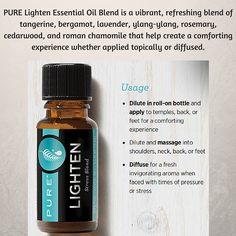 PURE Lighten oil blend is so far my favorite!! #essentialoils #wellness #stress